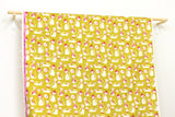 Cotton + Steel Beauty Shop - fancy cats - yellow