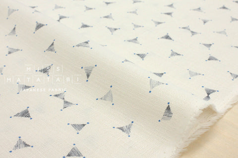 Kokka Kinari barkcloth - grey, cream