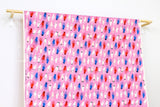 Cotton + Steel Beauty Shop - manicure - pink - fat quarter