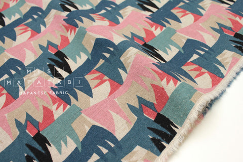 Grass - pink, blue, sage - fat quarter