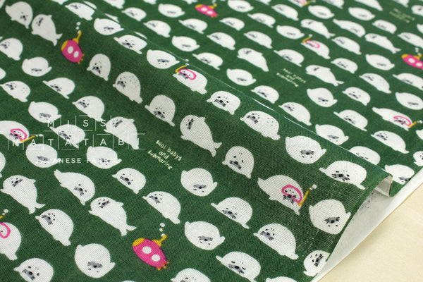Kobayashi baby seal double gauze - green