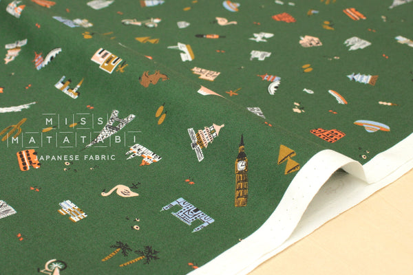 Cotton + Steel Amalfi - explorer hunter - fat quarter