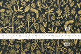 Cotton + Steel Amalfi - black forest navy metallic - fat quarter