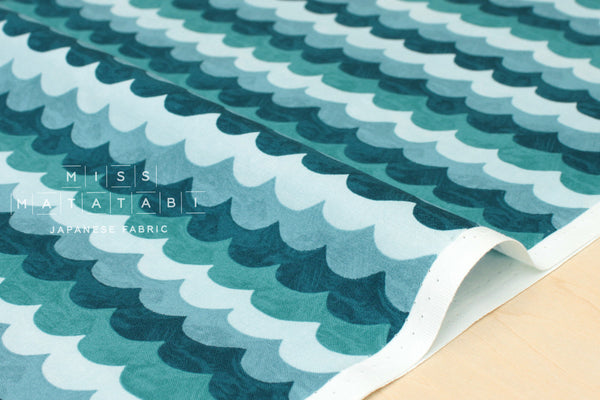Cotton + Steel Amalfi - waves turquoise