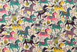 Happy Ponies - pink, green, mauve, brown, yellow