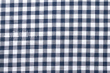 Yarn dyed double gauze - gingham check - navy