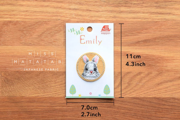 Rin Rin Emily iron-on patch Cute Rabbit