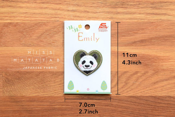 Rin Rin Emily iron-on patch Cute Panda