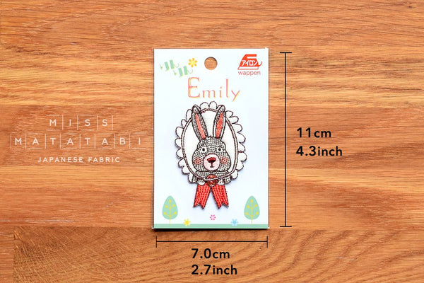 Rin Rin Emily iron-on patch Rabbit