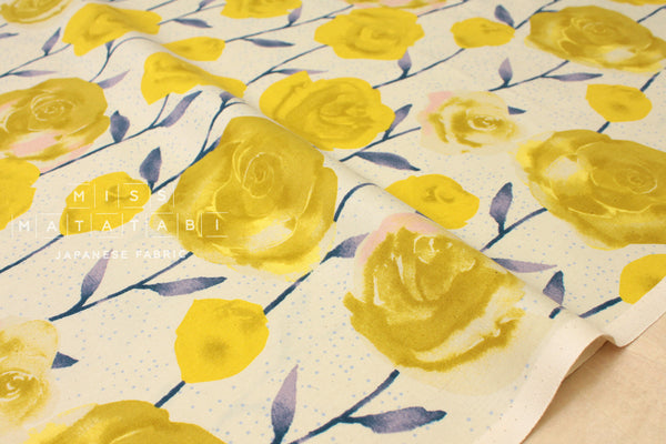 Cotton + Steel Firelight - roses - yellow - fat quarter