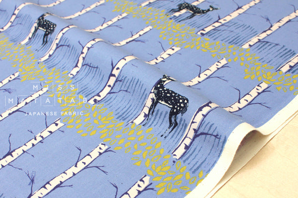 Cotton + Steel Frost - fawn forest - blue - fat quarter