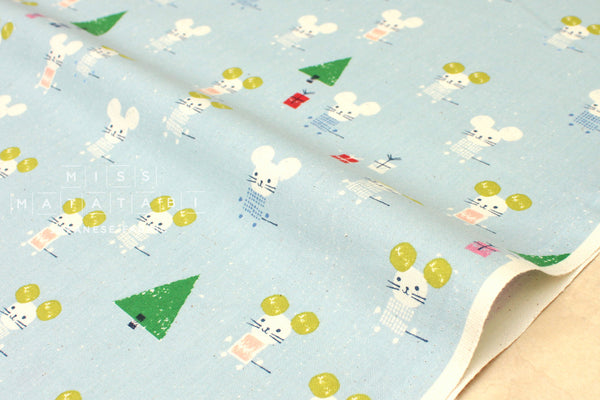 Cotton + Steel Frost - little friends - aqua - fat quarter