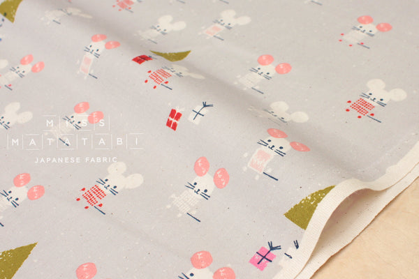 Cotton + Steel Frost - little friends - natural - fat quarter