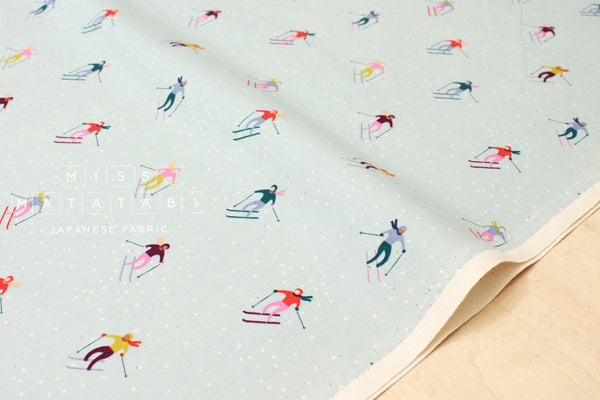 Cotton + Steel Frost - ski peeps - aqua - fat quarter