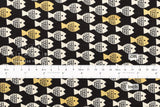 Cotton + Steel Spectacle - fish friends gold metallic