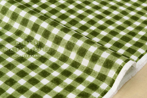 Double gauze - gingham - green