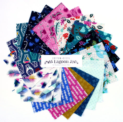 Cotton + Steel Charm Pack - Japanese Fabric - Lagoon