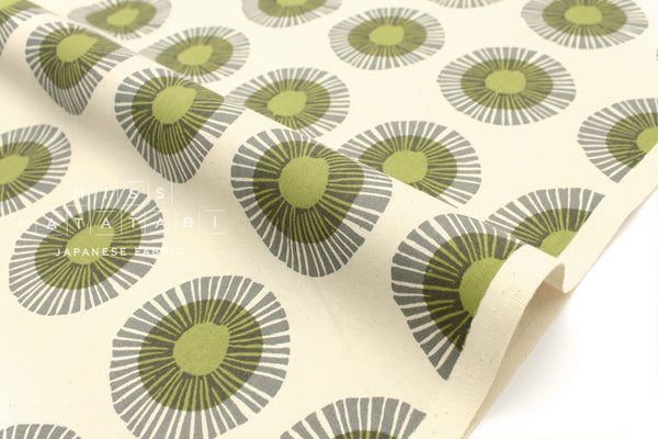 Cotton + Steel Imagined Landscapes - seaside daisy - sage