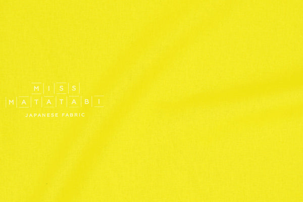 Kokka Tayutou solids - brightest yellow - fat quarter