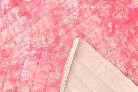 Nani Iro Kokka Japanese Fabric Lei nani quilted double gauze - For beautiful corolla - bugen