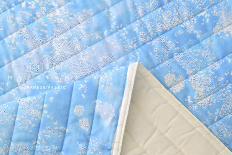 Nani Iro Kokka Japanese Fabric Lei nani quilted double gauze - For beautiful corolla - spring rain