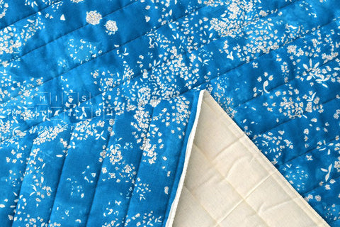 Nani Iro Kokka Japanese Fabric Lei nani quilted double gauze - For beautiful corolla - open sky