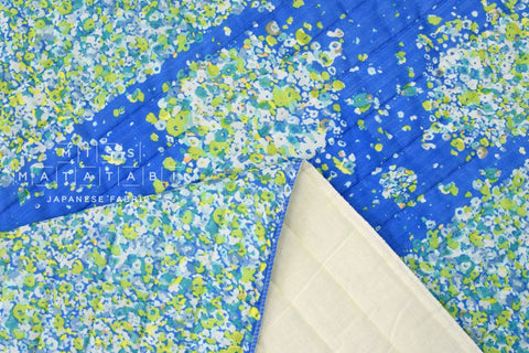 Nani Iro Kokka Japanese Fabric fuwari fuwari quilted double gauze - waterside poem