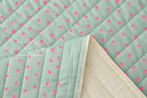 Nani Iro Pocho quilted double gauze - cherry soda