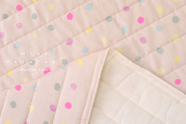 Nani Iro colorful Pocho quilted double gauze - sourire