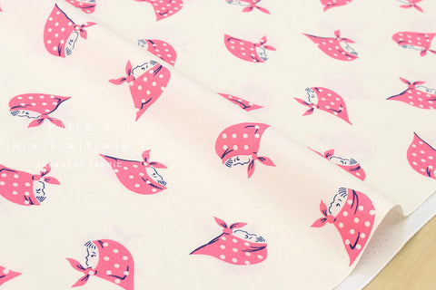 Kerchief Girls - pink - fat quarter