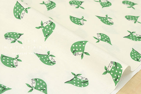 Kerchief Girls - green - fat quarter