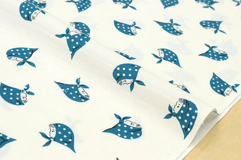 Kerchief Girls - blue - fat quarter