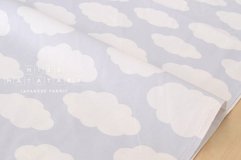 Kei Fabric Clouds - grey - fat quarter