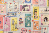 Yuwa Vintage Cards - fat quarter
