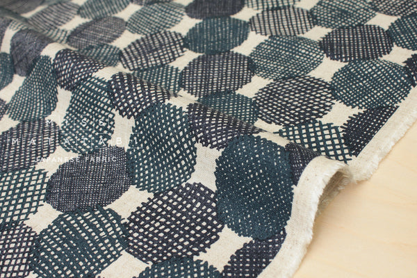 Kokka Screen Dots - teal, indigo blue