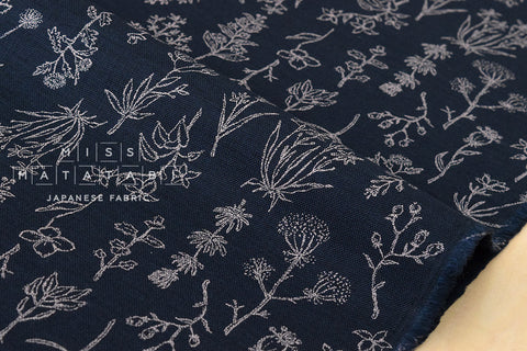 Kokka Trefle Natural Life - dark indigo