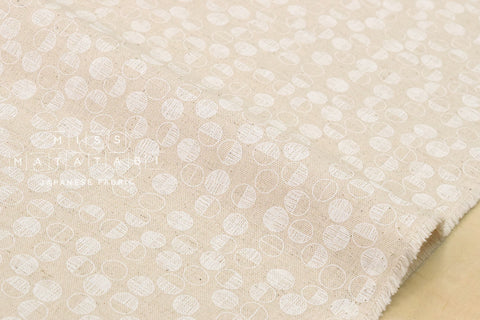 Kokka Tiny Scandinavia - maru - white, natural - fat quarter