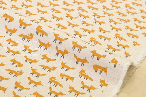 Kokka Animal World - fox - yellow, natural