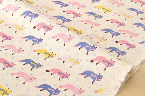 Kokka Animal World - chilly fox - natural, pink