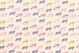 Kokka Animal World - chilly fox - natural, pink - fat quarter