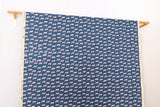 Kokka Animal World - chilly fox - blue - fat quarter