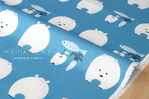 Putidepome - polar bear lunch - blue