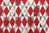Yuwa Suzuko Koseki Diamond Pattern - red, black, cream
