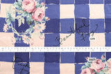 Yuwa Roses Check - blue