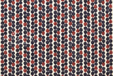 Kokka Pebbles double gauze - rust, navy