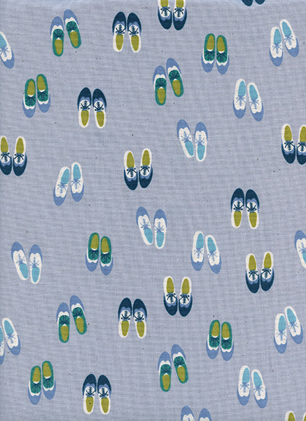 Cotton + Steel Panorama Ocean - oxfords - blue suede - fat quarter
