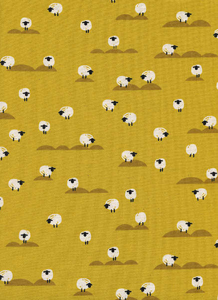 Cotton + Steel Panorama Sunrise - sheep - mustard - fat quarter