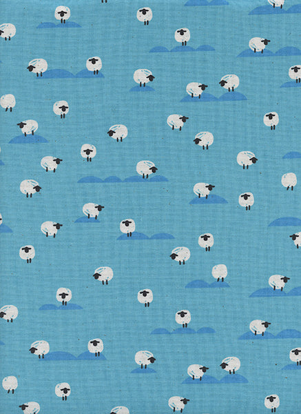 Cotton + Steel Panorama Ocean - sheep - water - fat quarter