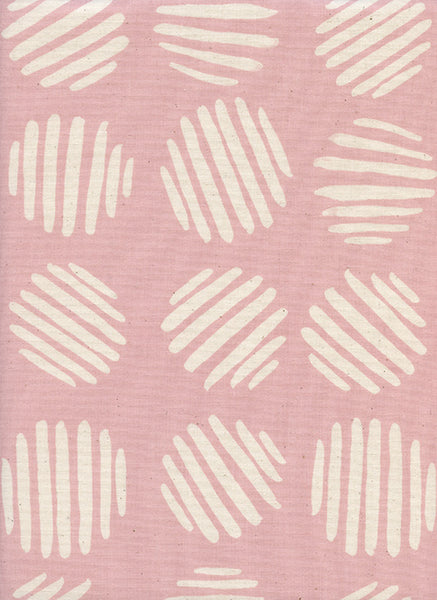 Cotton + Steel Panorama Sunrise - coin dots - cotton candy - fat quarter