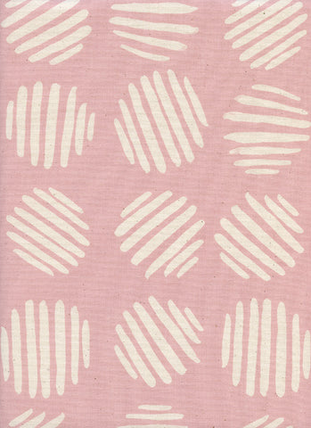 Cotton + Steel Panorama Sunrise - coin dots - cotton candy